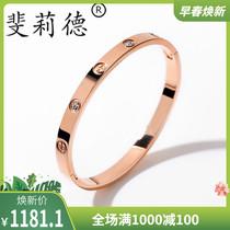 Ниша красный браслет для женщин встряхивания с покрытием 18 карат розовое золото женственность дикий простой открытый Титан стали браслет