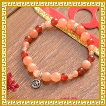 Mak Lingling Jiqing Hall red agate hand string