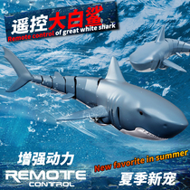 Remote control shark charging can be launched simulation will swing megalodon model remote control boat Childrens toy boy