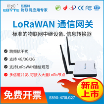 LoRaWAN communication gateway LoRa concentrator frequency hopping interference support 4G 3G 2G multi-band optional