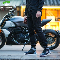 motoboy motorcycle riding pants mens spring and summer casual overalls knight motorcycle pants wind-proof slim fall-proof