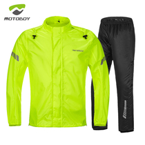 MOTOBOY motorcycle riding raincoat suit light breathable reflective anti-heavy rain split adult poncho for men and women
