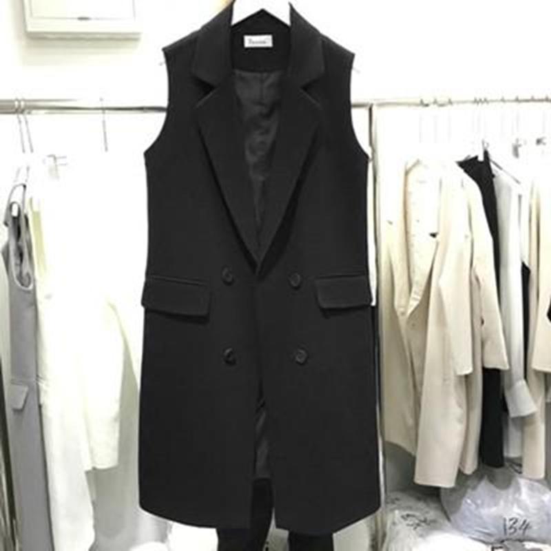 Summer vest womens spring and autumn 2021 thin models outside the jacket worn black large size suit horse clip vest jacket