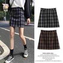 2020 automne et Dhiver nouveau plaid a-Ligne Jupe Jupe Jupe étudiantes version coréenne de Automne Taille Haute Jupe Jupe Jupe