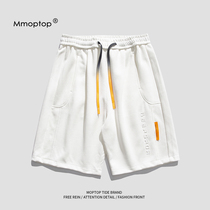 MMOPTOP summer solid color sports shorts mens fashion brand street loose casual straight wild couple five-point pants