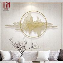 Новый китайский декоративный кулон стены гостиной стены из кованого железа настенные холмы картины настенные украшения творческие трехмерные металлические украшения стены