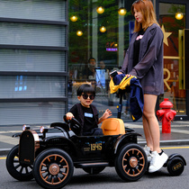 Bedoqi parent-child childrens electric car car remote control four-wheel can stand adult female baby toy car can sit on the stroller