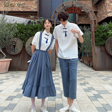 Korean school uniform graduation class uniform summer suit high school students college style ancient Chinese elements Girl Skirt fashion