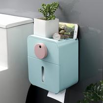 Boîte de papier hygiénique toilettes papier rack toilettes trou-livraison mural étanche boîte de papier creative rouleau papier rack