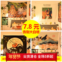 East Park background cloth ins hanging cloth tapestry anchor bedroom dormitory room renovation layout bedside decorative wall covering