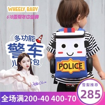 (Sydney recommended)wheelybaby school bag Childrens kindergarten 3-year-old car baby light backpack boy