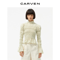 CARVEN womens 21 spring and summer new high-definition sense of the whole body smack fancy top shirt 0012A