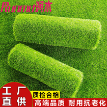 Simulated lawn green kindergarten mats surrounded by plastic fake turf outdoor wedding green plant decoration impotence