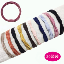 Leather band women tie hair rope headdress high elastic Hairband Korean Net red ins simple hair accessories leather case women thin head rope