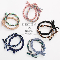 Net red ins Wind Hairband Forest head rope rubber band female tie hair rope 2021 New ponytail summer leather case
