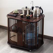 Mobile tea cart Household living room tea cabinet Kettle one-piece tea table Tea set New Chinese style with wheel tea cabinet