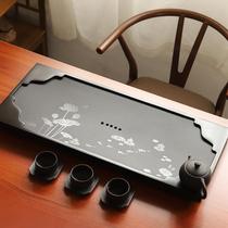 Whole large Wujin Stone tea tray household simple natural stone kung fu tea set drainage office tea tray