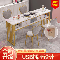 Nail table Single double with socket USB connector Nail table European nail table and chair set Special economic type