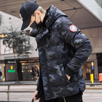 Cotton mens winter thick warm cotton wool 2020 new autumn and winter tide brand coat mens camouflage down cotton clothing