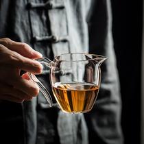 Taiwan Heji fair cup upgrade Yikou large heat-resistant glass male cup handmade tea sea tea dispenser
