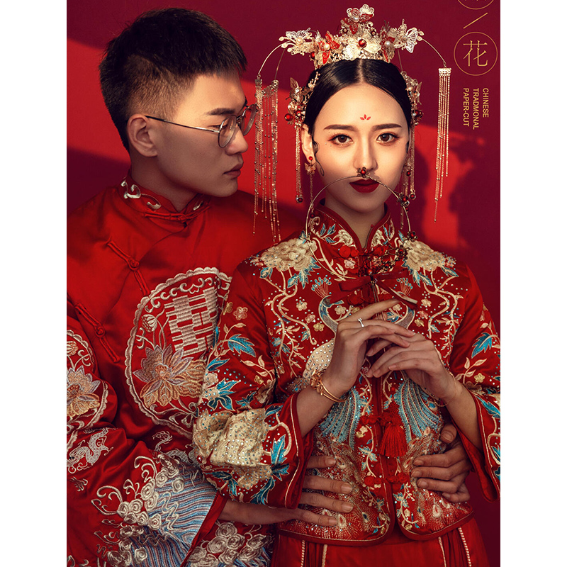 Xiuhe clothing bride 2021 spring summer new Chinese wedding costume wedding dress slim dragon and phoenix gown small cabinet clothes