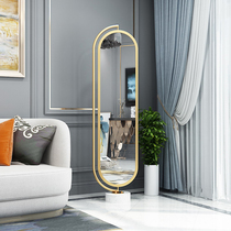 Full-length mirror floor-to-ceiling rotating home net red ins light luxury Nordic girl simple bedroom girl full-length mirror
