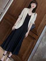 Spring and autumn 2020 new Chaoyang Pai large size womens wear weight loss thin fat mm fashion temperament two-piece suit skirt