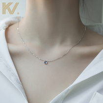 Ocean heart sterling silver necklace Female niche design sense light luxury ins simple 2021 new collarbone chain gift