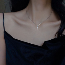 S925 sterling silver lightning necklace 2021 new girl light luxury niche design sense simple and wild collarbone chain summer