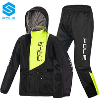 POLE off-road locomotive two-piece raincoat raincoat suit motorcycle racing rider equipped with mens cycling reflective raincoat