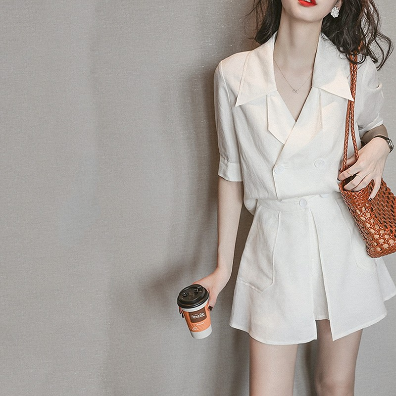 LILY MOST professional suit shorts set women 2021 summer new temperament style light familiar style two-piece set