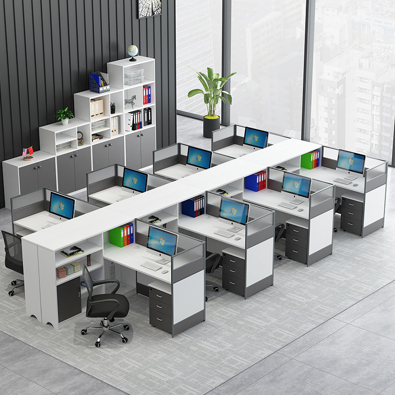 Office table and chair combination screen partition screen Office desk staff 4 6 staff deck 3 staff finance