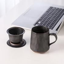 Бесстрашный чайная чашка разделение воды для чая мужской офис высококачественная керамика с крышкой фильтр утечка чая Личное использование