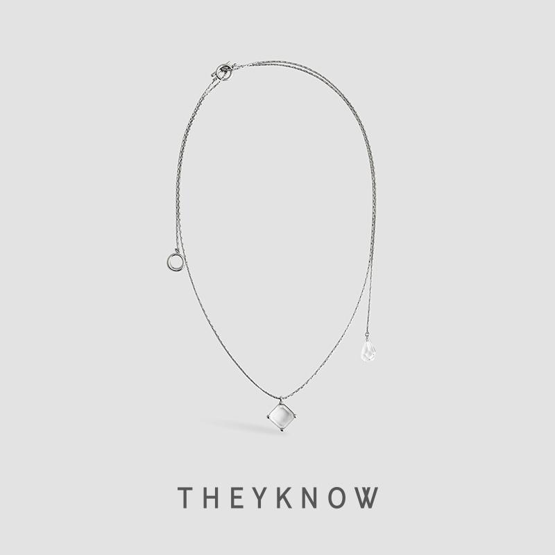 WEKNOW Gem Natural Crystal Pendentif Collier Cool Wind Short Collarbone Chain 2021 Nouvelle personnalité