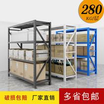 Storage shelves Multi-layer shelves Home supermarket warehouse warehouse display rack Floor-to-ceiling medium and heavy-duty storage iron shelves