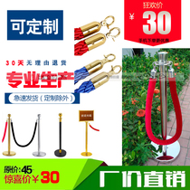 Stainless steel hanging rope one-wire guardrail railing block cordon fence isolation Belt Titanium Gold welcome Concierge Post