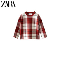 ZARA new childrens clothing girls spring and summer new plaid sweater 05507602067