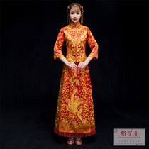 Dragon and Phoenix gown Xiu wo dress bride 2018 new style chinese dress wedding gown married marry suit