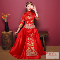 Xiu wo Clothing Bridal dress 2018 new chinese style wedding toast and dragon gown embroidered costumes and costumes