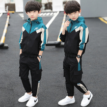 Childrens clothing boys spring suit 2020 new large children 10 boys spring and autumn sports Yangyang Korean version 15 years old Tide