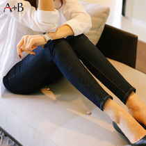 A+b Korean version of the slim slimming high waist stretch students nine minutes of pants