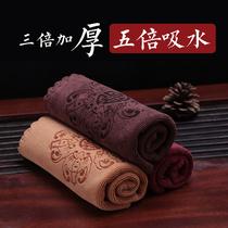 Thickened tea towel Tea cloth Absorbent printing square tea tablecloth Tea tray Kung Fu tea accessories special towel rag