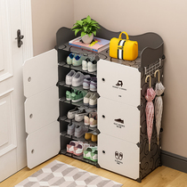 Shoes shelf household simple economical shoes dustproof multi-storey dormitory space to put the door shoe storage artifact