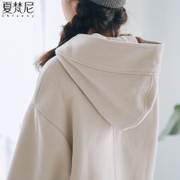 Korean winter 2017 new girls long wool coat student short cloak button woolen coat