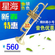 Authentic Beijing Xinghai instruments B flat trumpet trumpet playing type promotion beginners grading factory