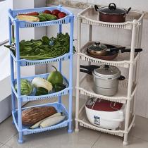 Kitchen Racks Kitchen Fruit And Vegetable Supplies Storage Rack Corner  Shelf Plastic Floor Rack