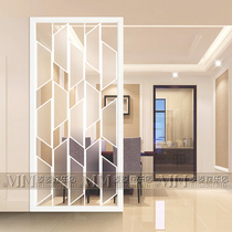 Custom art glass screen partition living room porch background wall shoe cabinet new modern minimalist frosted glass
