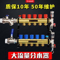 Ground warm water Separator 12 Road 334455 Road Large flow integrated water Collector 8 Road 1.2 inch 32 heating valve