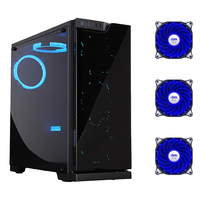 Aigo Patriot dazzle shadow desktop computer chassis Game water-cooled main chassis glass front panel large side transparent