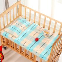 纯棉手工宝宝老粗布凉席两件套1.0*1.2床单+枕巾